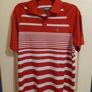 Men's Izod golf striped shirt size small